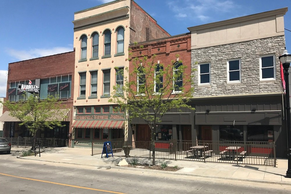 Springfield Business Journal's longtime downtown home at 313 Park Central West is listed for sale.