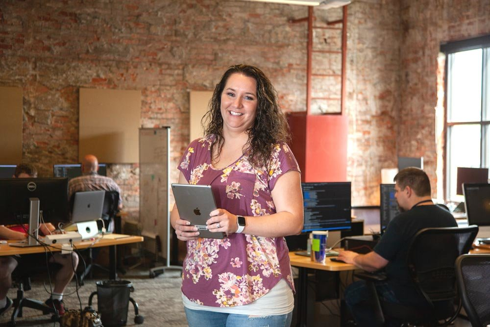 Stephanie Youngblood, agile coach at World Wide Technology Inc., says the employee count at the Springfield office has more than quadrupled since 2015.
