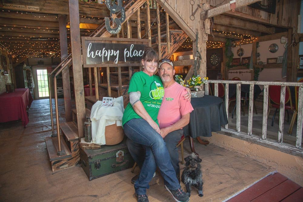 BARN BONDING: Laura and Randy Walden say their venue, The Clever Barn, is on pace to eclipse last year's 65 events booked.