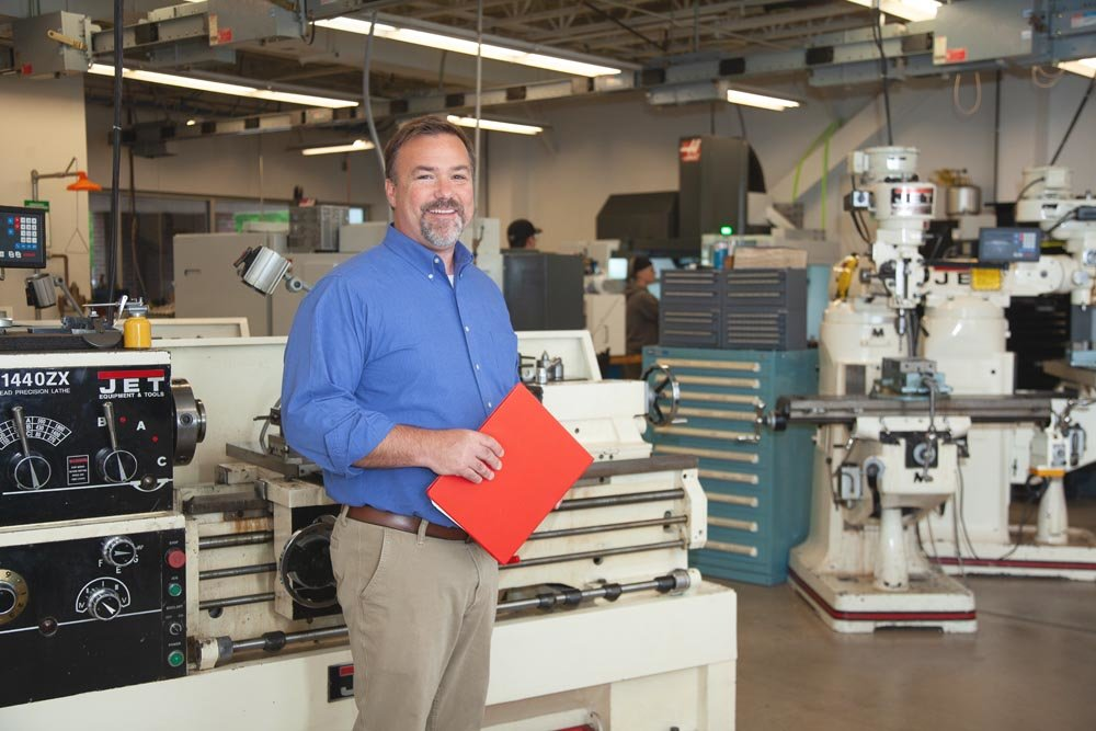 WORK READY: Bryan Harvey is a manufacturing instructor at Ozarks Technical Community College, which now offers a certified production technician credential.