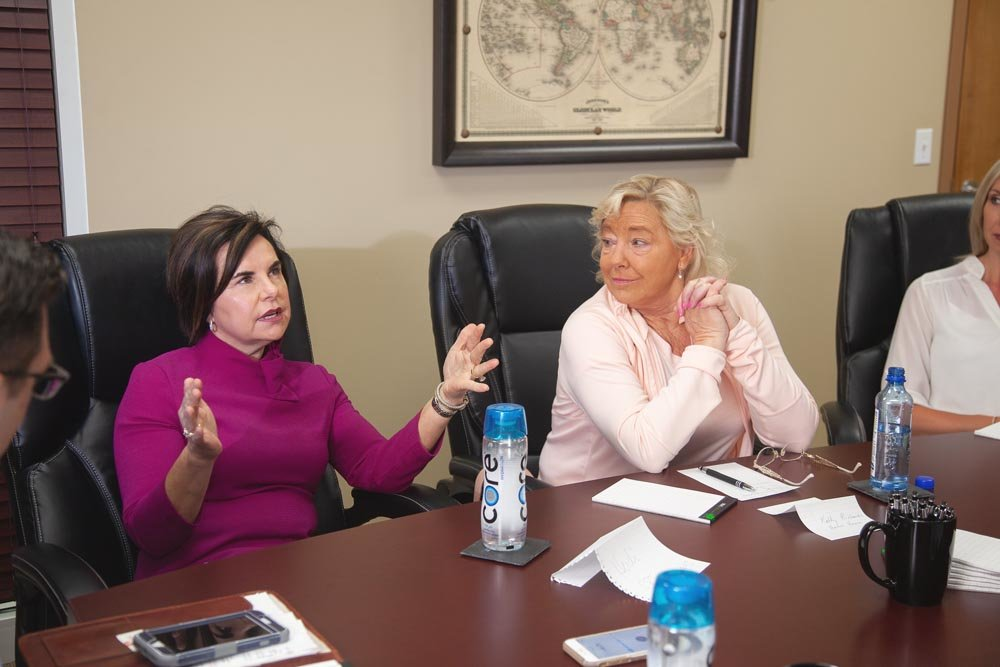 Heidi Crane of CPI Technologies and Kathy Richards of Harter House