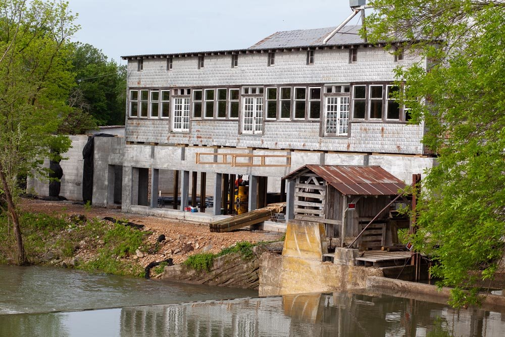 HISTORY REVIVED: The relocated Ozark Mill is designed with restaurants, a speakeasy bar and an urban farm.