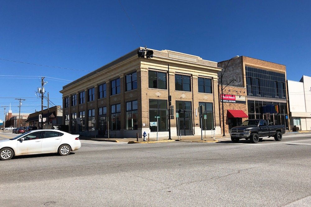 Ollis/Akers/Arney and Douglas, Haun & Heidemann soon will be tenants at the First National Bank building, where renovations are nearly complete.