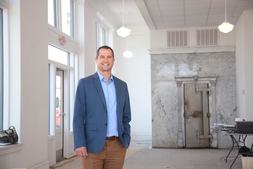 Attorney and developer Pat Douglas is spending north of $1 million to renovate the historic First National Bank building.