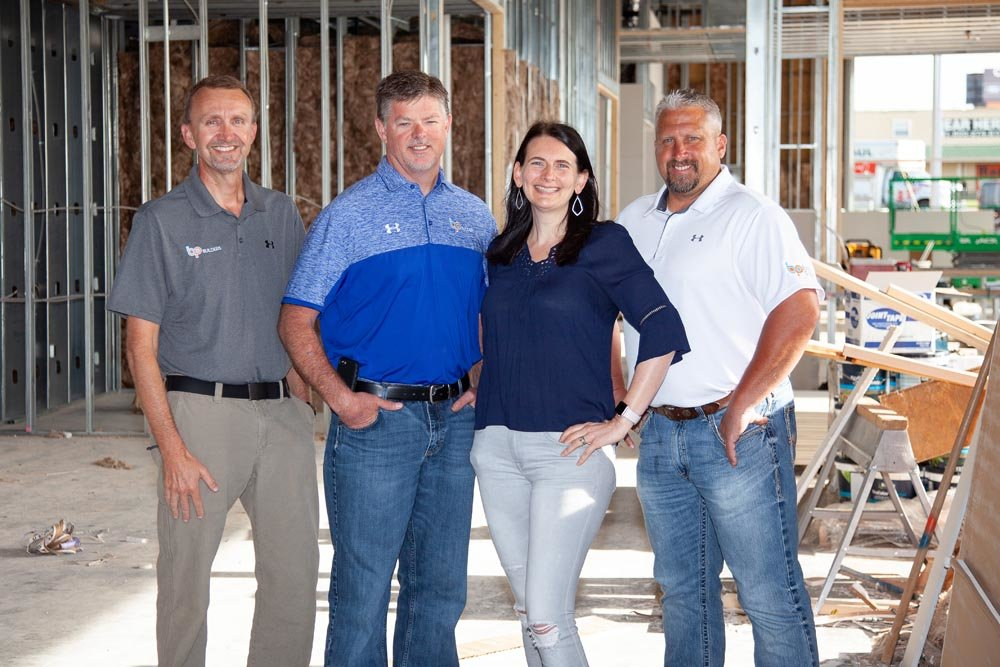 From left: Matt Bailey, Adam Pyle, Angela Blevins and Lane McMurry of BP Builders LLC