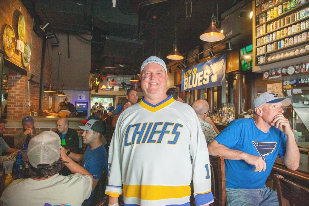 PLAY GLORIA: Falstaff's Local owner Scott Morris says the sports bar has reached capacity during the St. Louis Blues' Stanley Cup run.