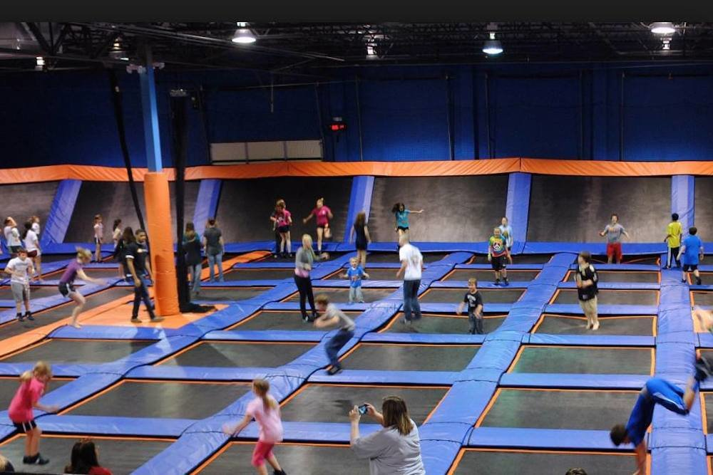 An obstacle course, zip line, warped wall and other features are planned at the Sky Zone trampoline park