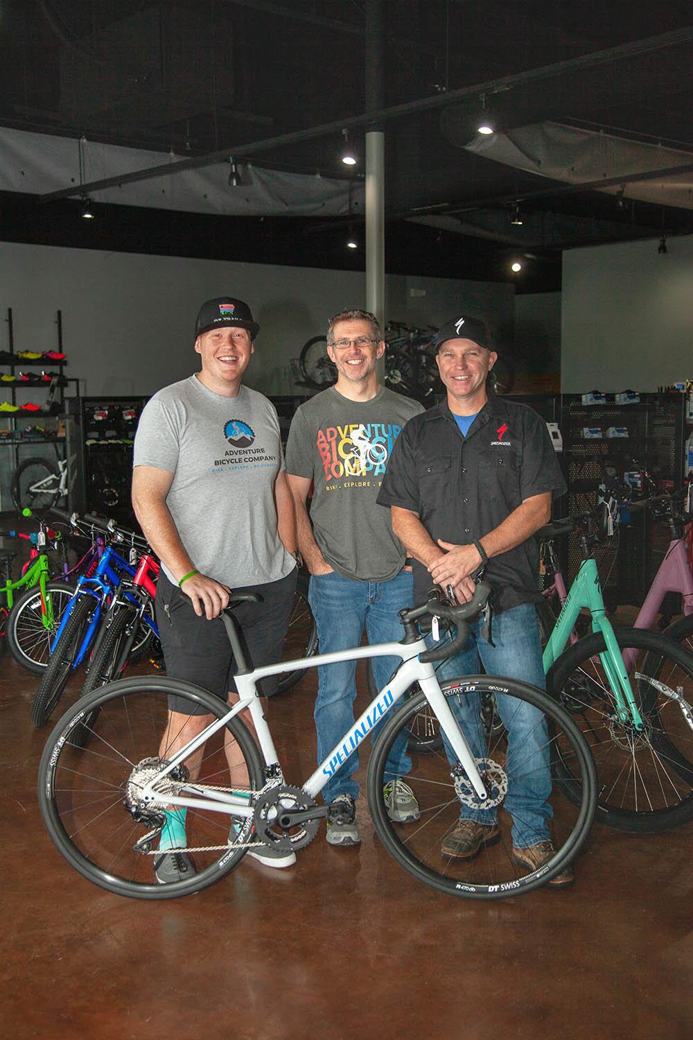 Colin Brixey, Jason Johannpeter and Jason Allen, Adventure Bicycle Co.