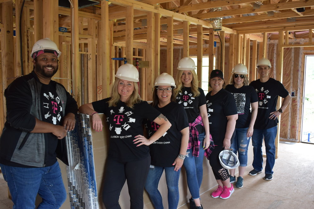T-Mobile employees gave 4,800 hours to complete this Habitat for Humanity home.