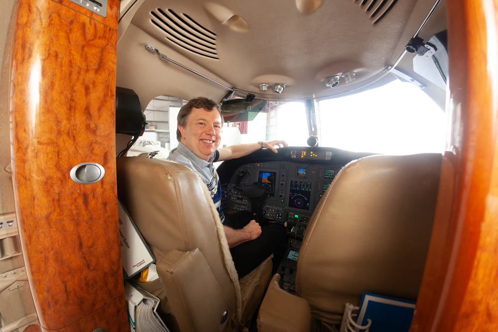 Mark Burgess is in the pilot's seat at Burgess Aircraft Management as managing partner and chief operations officer.