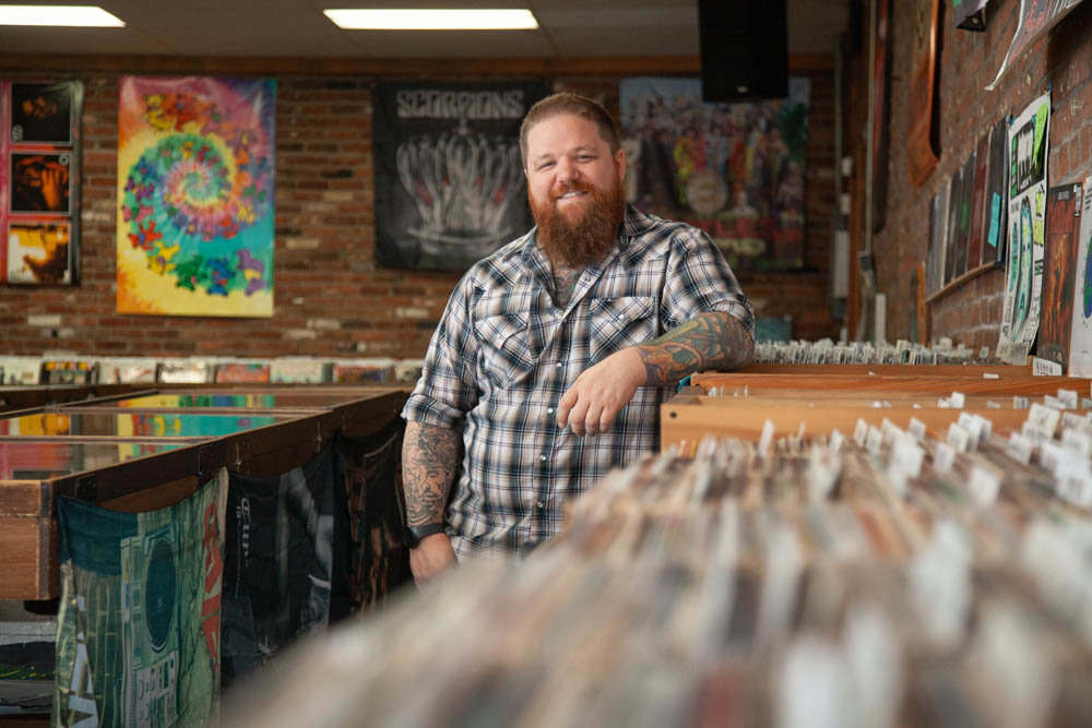 ROCK STEADY: Erik Milan is the new owner at Stick It In Your Ear, taking over Jan. 1 after purchasing the downtown Springfield record store from Wes Nichols.