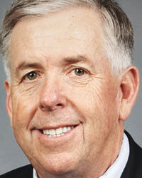 Mike Parson will be challenged by Nicole Galloway in the November general election.