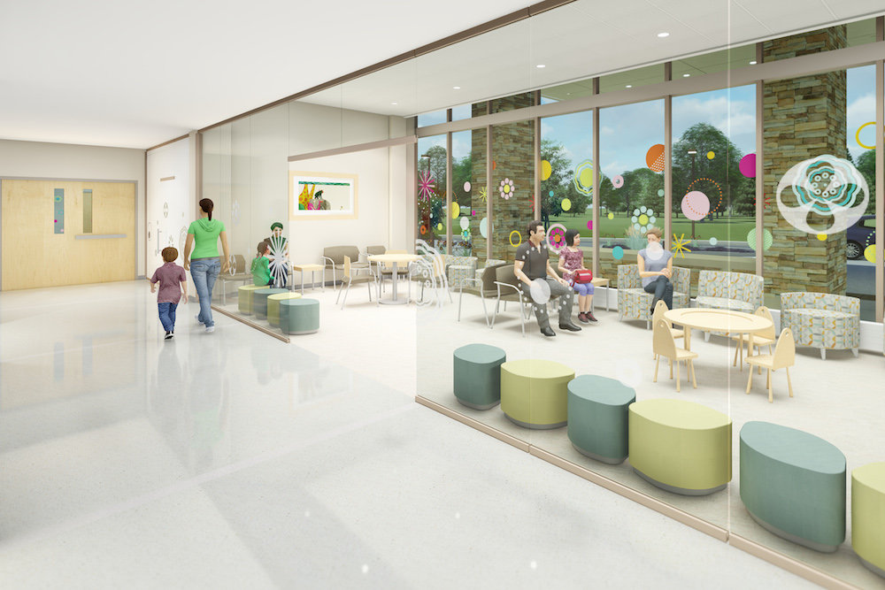 The 6,300-square-foot children's emergency room is planned along South National Avenue.