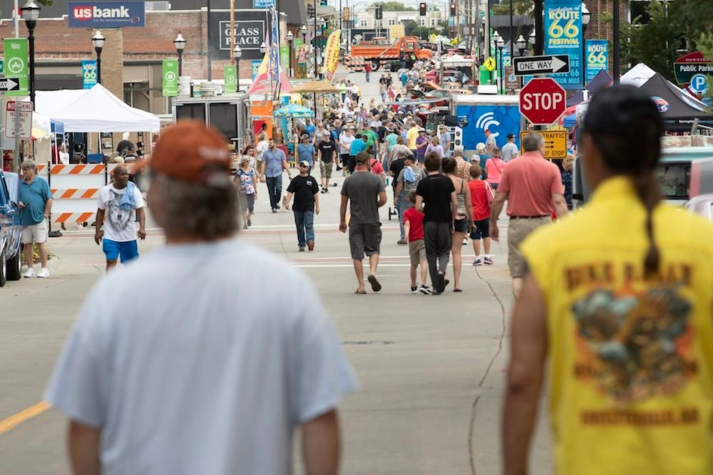Tens of thousands of people attend the ninth annual Birthplace of Route 66 Festival.