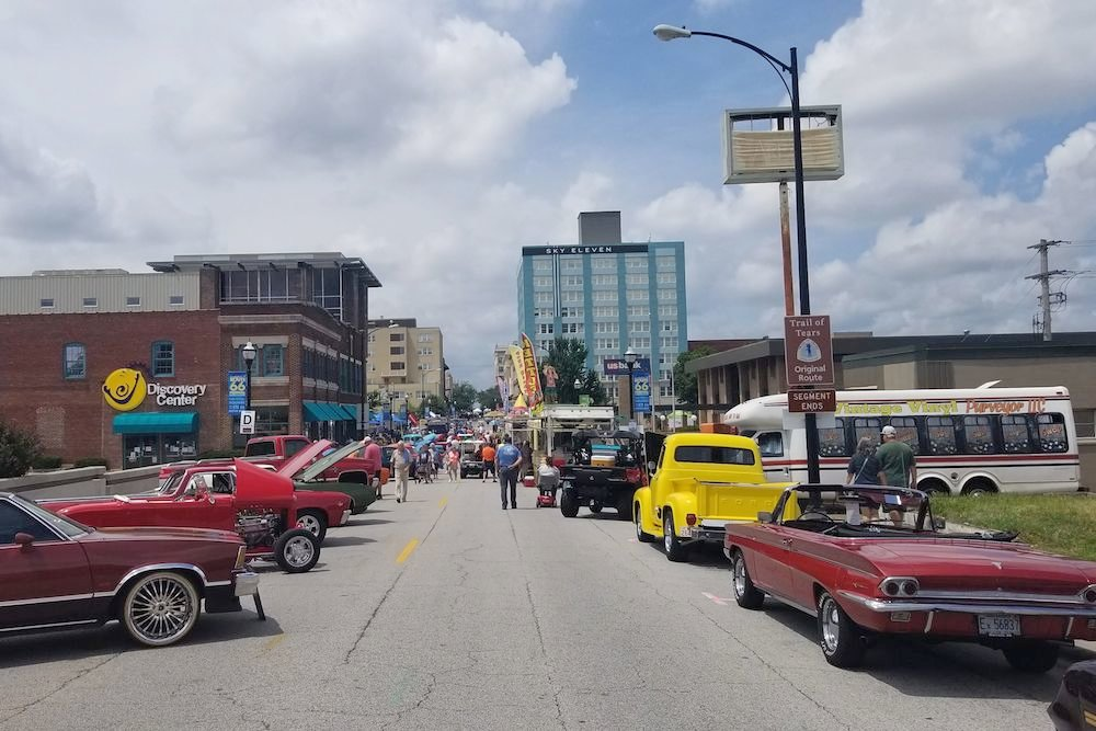 Hundreds of cars were on display for the festival.
