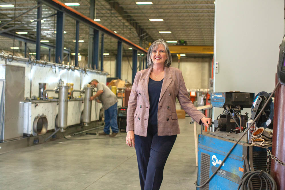 KEEP CLEAN EARTH: Jenfab Cleaning Solutions CEO Rhonda Wright says the company uses water-based solutions to be environmentally responsible.