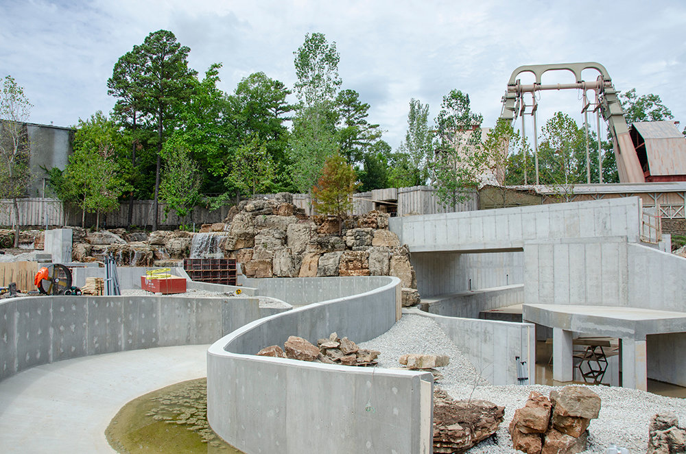 Mystic River Falls is under construction at Silver Dollar City.