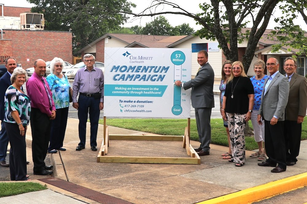 New donations push Cox Monett Hospital's Momentum Campaign past the halfway mark.