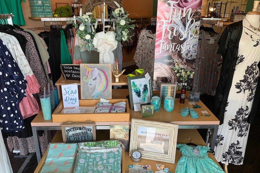 Clothing and home decor are among products sold at the store, which has a roster of rouhgly 30 vendors.