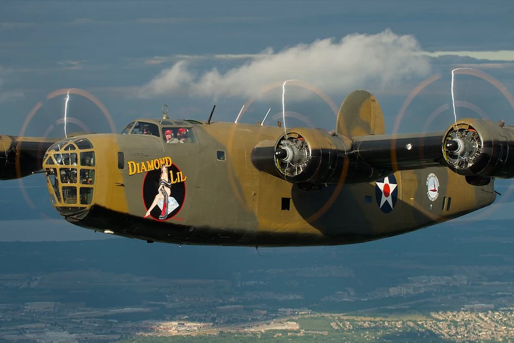 A Consolidated B-24 Liberator, nicknamed Diamond Lil, is coming to the Hollister airport next month.