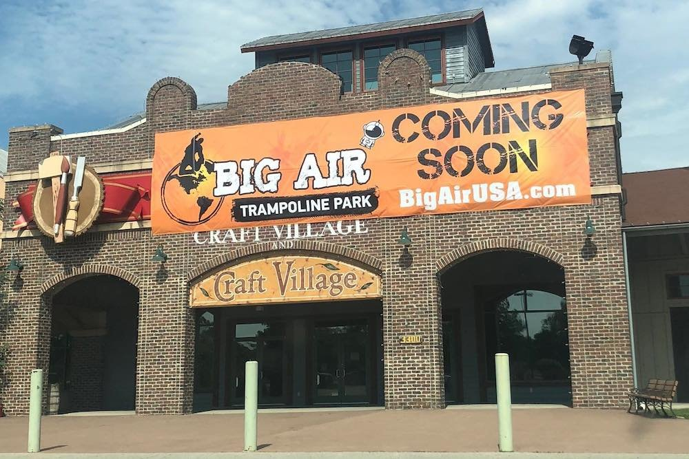 Shown here earlier this summer, Big Air Trampoline Park replaces the Branson Mill on Gretna Road.