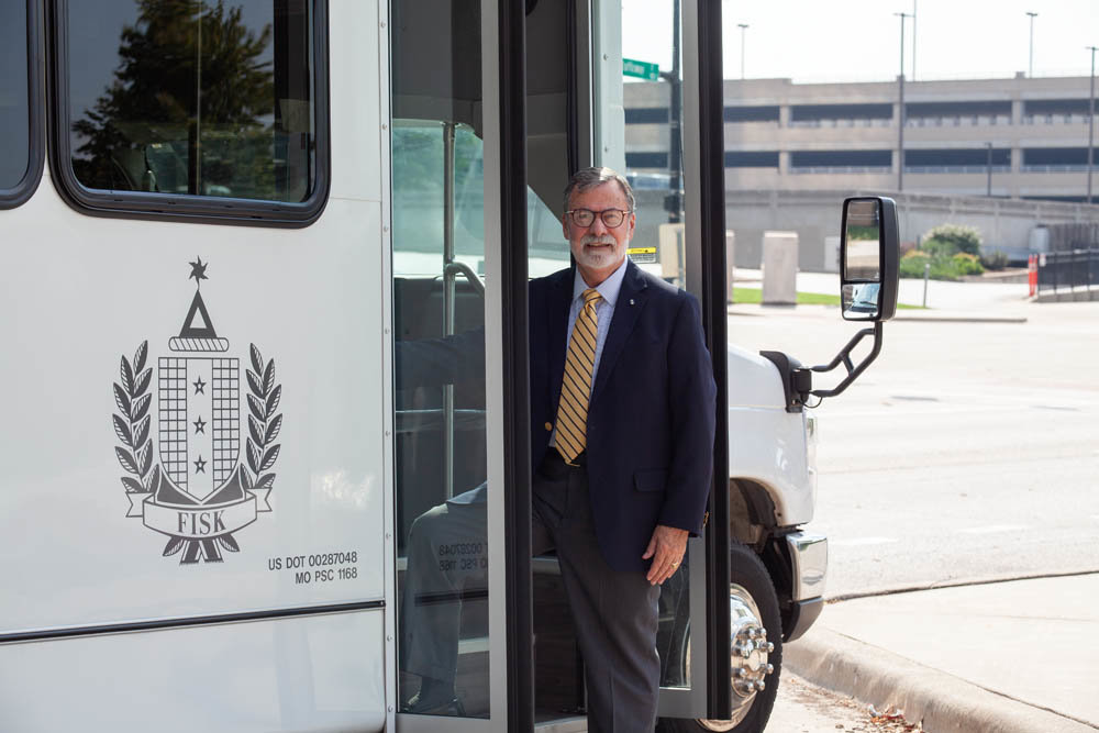 SHUTTLING THE FANS: Howard Fisk, owner of J. Howard Fisk Limousines Inc., partnered with the Springfield Cardinals at the end of the season to offer fans a free shuttle from Ozarks Technical Community College.