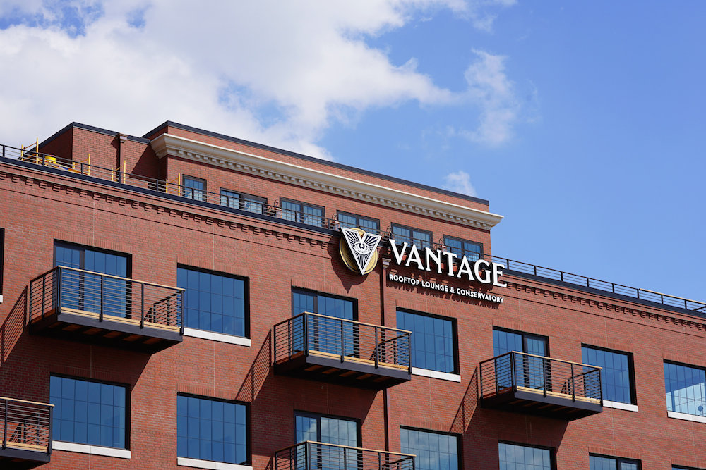 Vantage Rooftop Lounge and Conservatory, which sits atop V2, is scheduled to open Sept. 24.