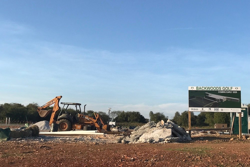 Construction began in July on a planned driving range in Republic dubbed Backwoods Golf LLC.