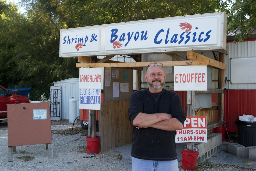 Chris Crow is moving out of town after running his Louisiana-style Shrimp and Bayou Classics for eight years.