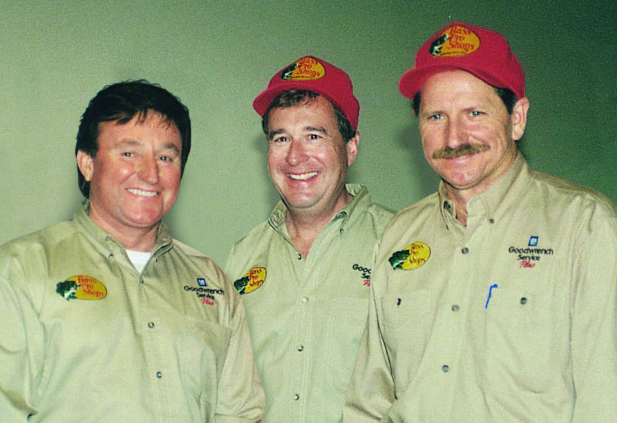 Johnny Morris, center, developed friendships with Richard Childress and Dale Earnhardt Sr.
