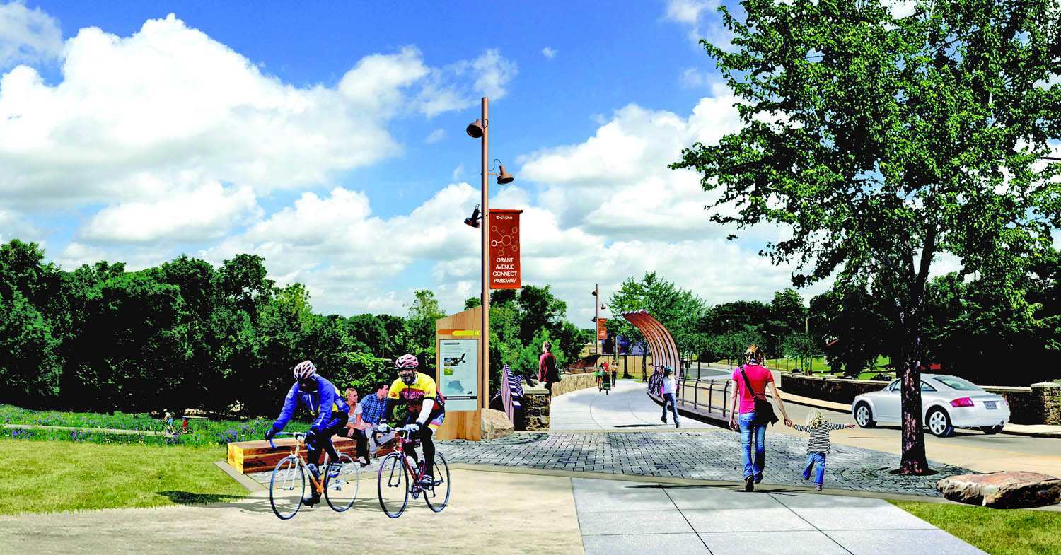 GRANT FOR GRANT: A preliminary rendering of the Grant Avenue Parkway Trail Connection project shows the Fassnight Creek Crossing, along with a separated bicycle and pedestrian path.