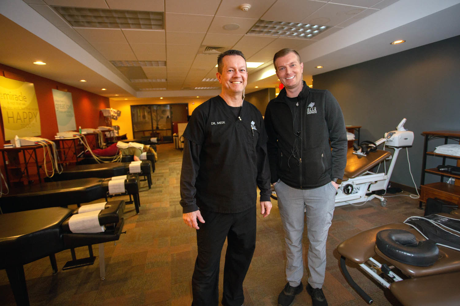 STRETCHING THE SERVICES: Dr. Gary Meek, left, is expanding his range of medical care with the launch of 180 Health, slated to open in early 2020, led by Clint Cunningham.