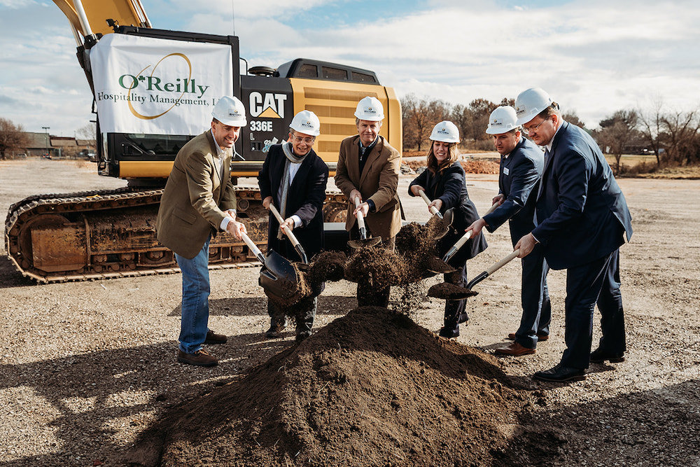 Officials ceremonially break ground Nov. 22 on BigShots Golf in north Springfield.