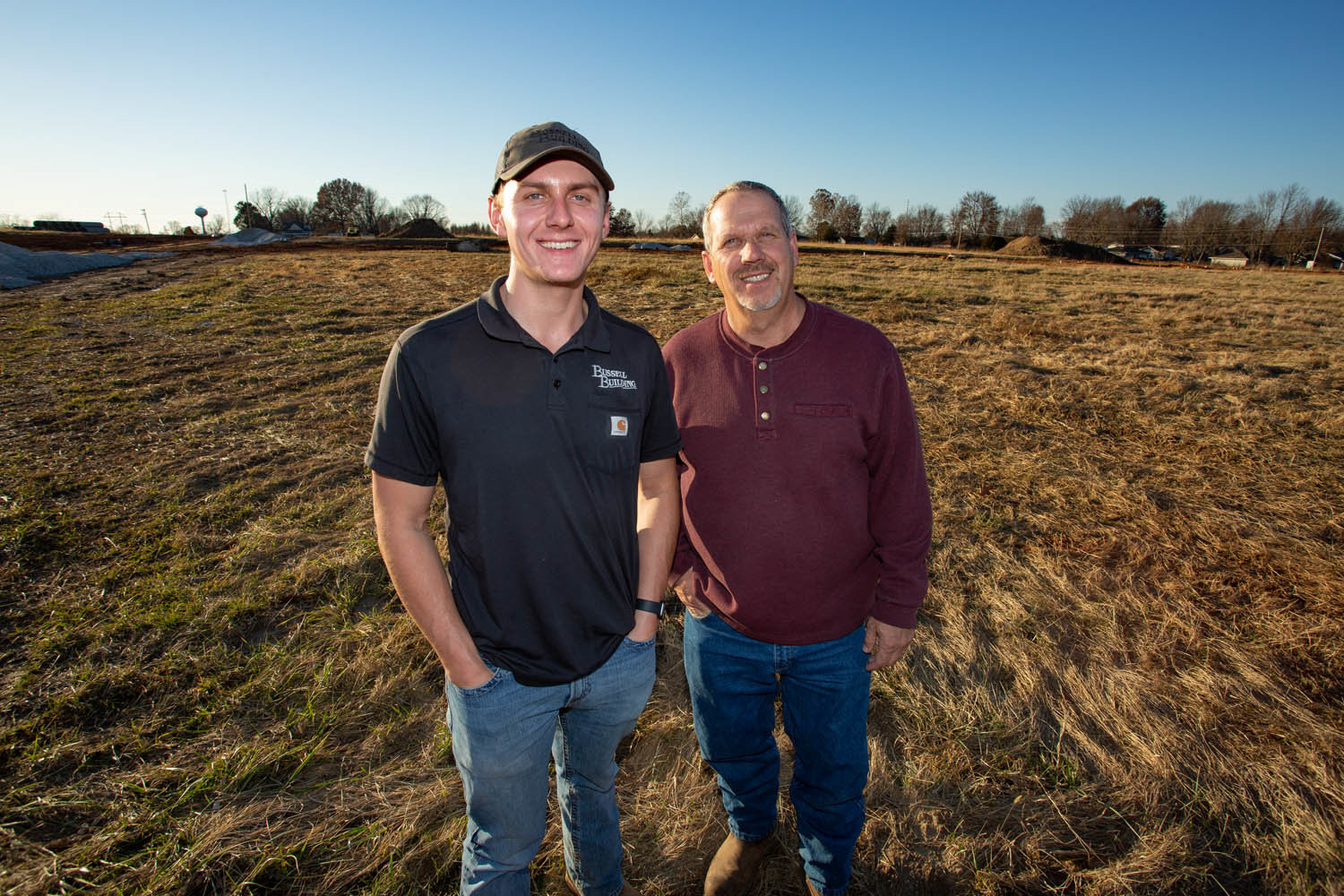 MEETING THE DEMAND: Bussell Building, led by Tyler, left, and Kenny Bussell, is developing six subdivisions, including a new one on 200 acres in Battlefield.