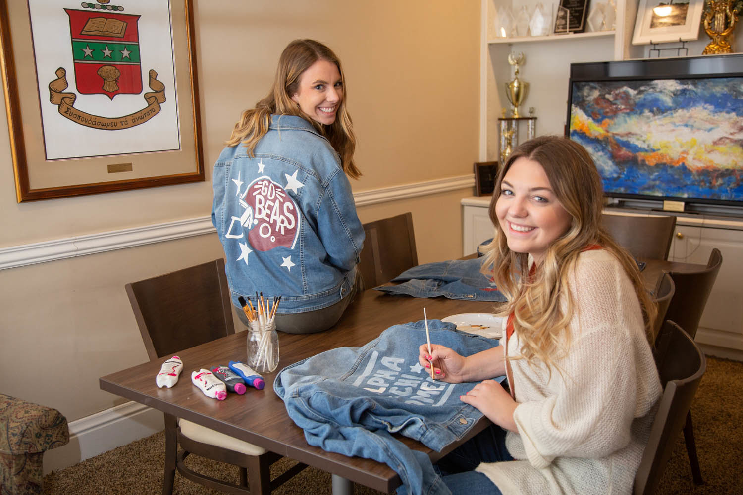 Missouri State University sophomores Jesse Romano, left, and Katie Sulzner plan to continue their small-business venture at least through college.