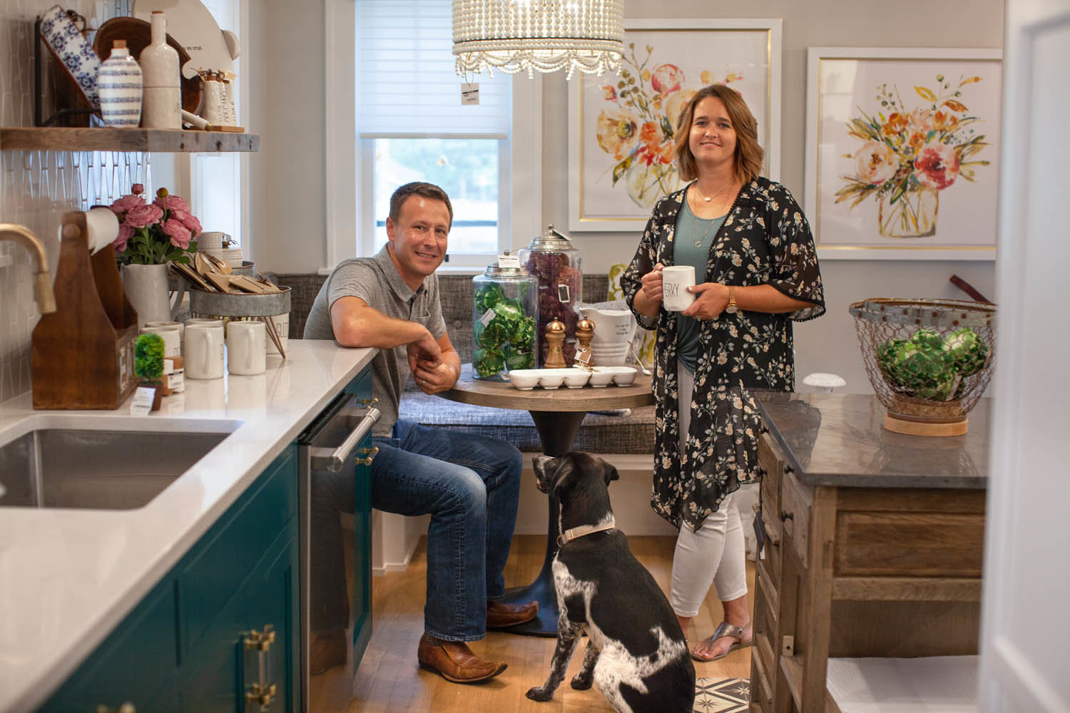 Owners Brady and Haden Long of Ellecor Design and Gifts have settled into the neighborhood.