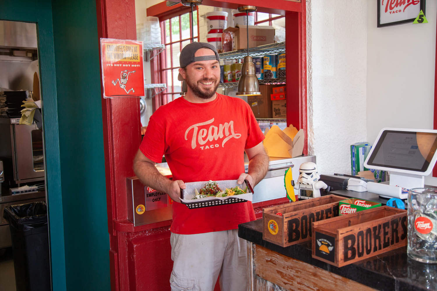 Co-owner Cary Harris opened Team Taco in August.