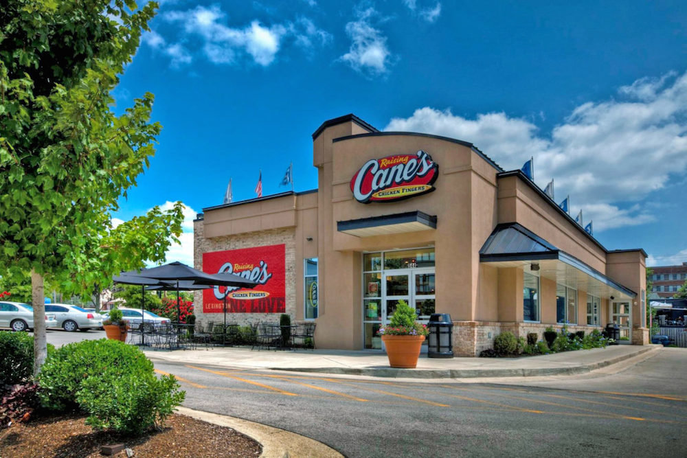 A Raising Cane's restaurant in Lexington, Kentucky, is among nearly 500 locations in operation.