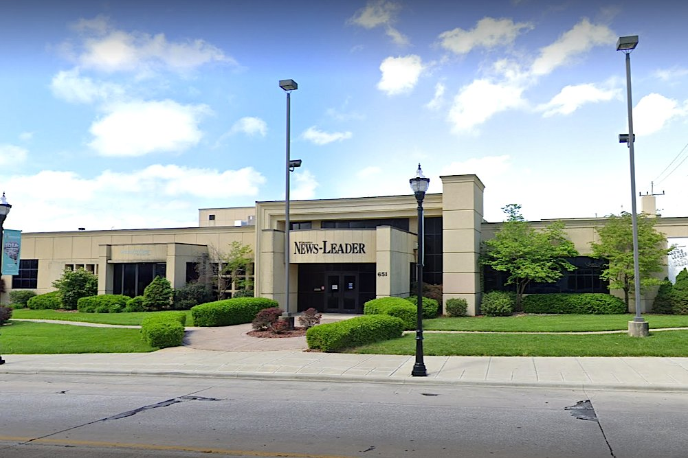 Employees at the Springfield News-Leader, above, are seeking more local control.
