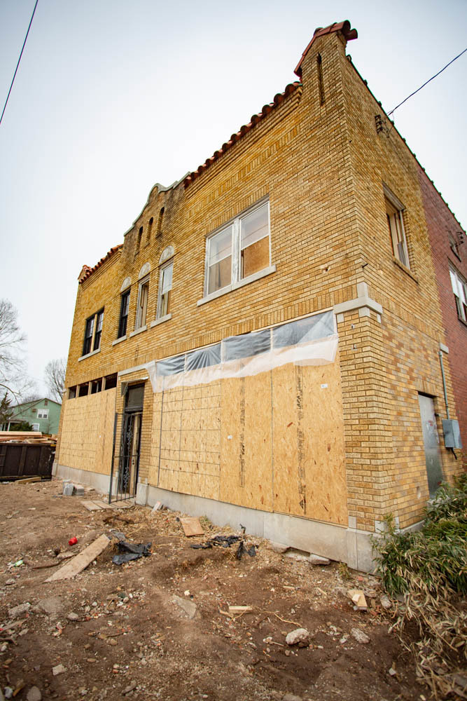 David Ross' Ross Construction Group is renovating the Spanish mission building in Rountree. The work includes a new roof and windows.