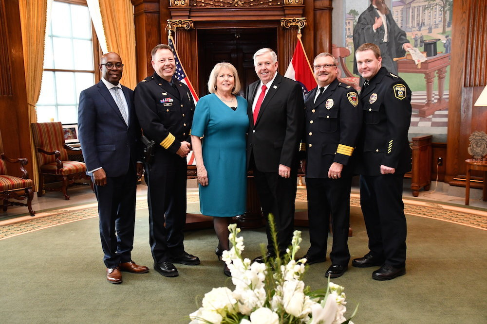 Springfield Police Chief Paul Williams, second from right, also attended the event.