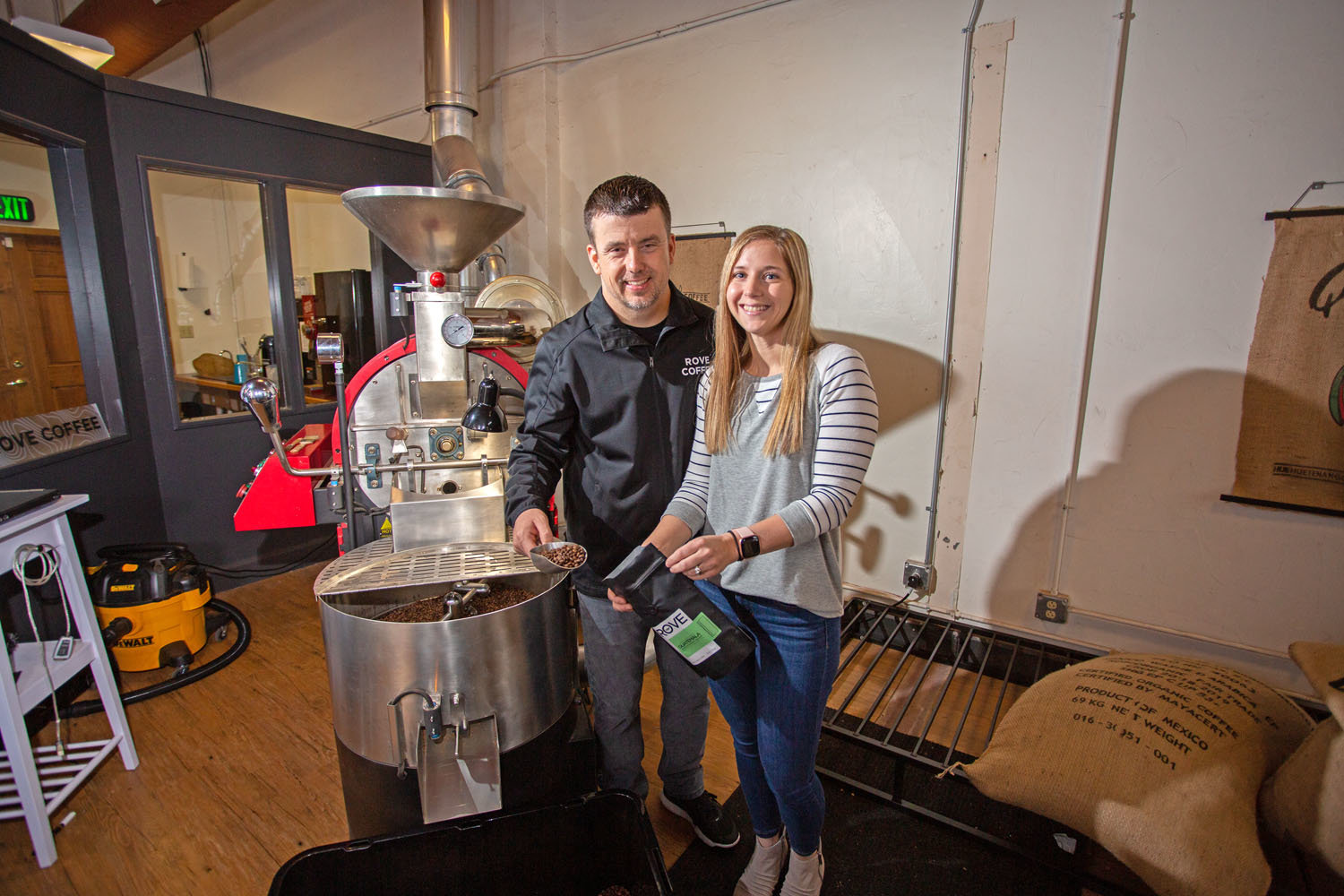 Dustin and Katie Jackson, Rove Coffee Roasting