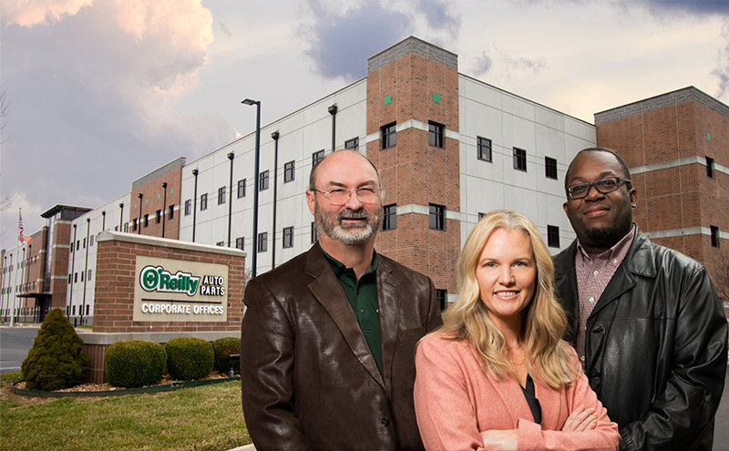 Left to right: - Buddy Webb, Principal Architect; Lesley Guillot, Vice President; Stephen Bent, Vice President