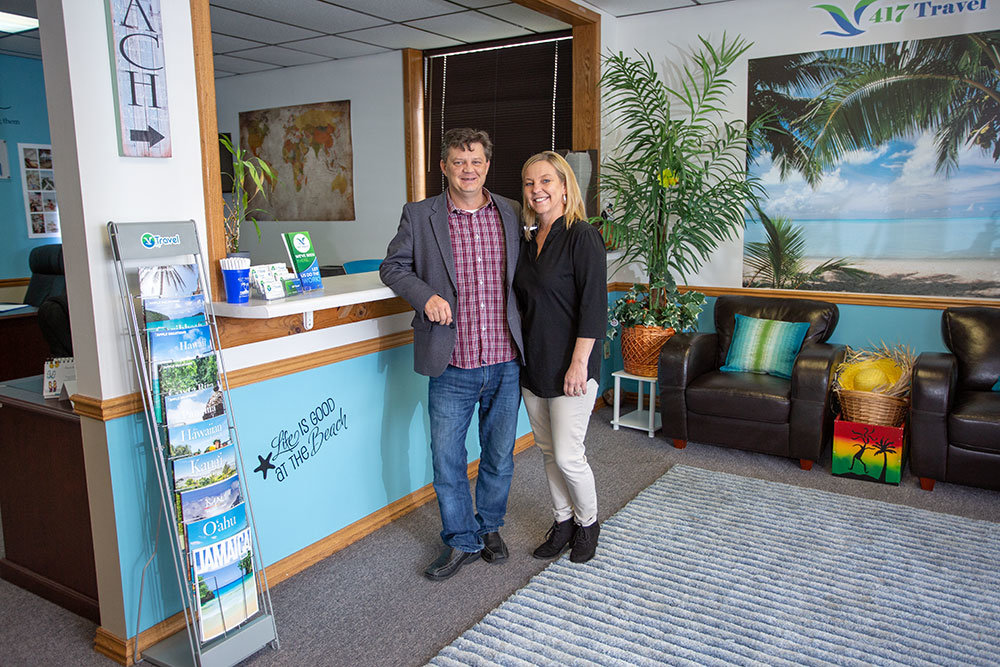 ESCAPING THE 417: Owners Travis and Michelle Paquin recently expanded their travel agency to include European destinations and cruise options.