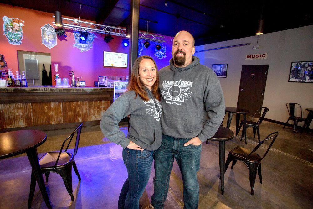 Ashley and Brent McGuire, Classic Rock Coffee Downtown
