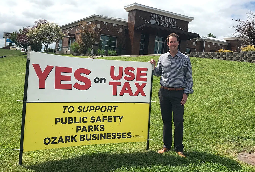 Mitchum Jewelers owner Randy Mitchum says the Ozark use tax would level the playing field for local businesses competing against online retailers.