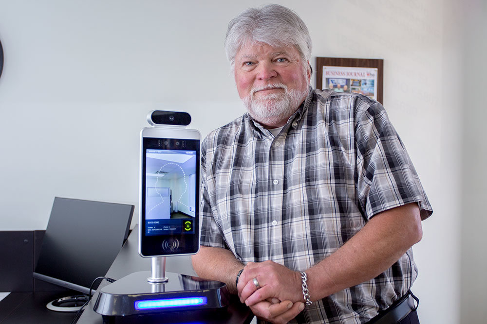 FEVER READER: Electronic Contracting Co. introduced temperature scanning technology in response to changing needs amid the coronavirus pandemic. It has since sold a dozen devices nationwide, though none in the Springfield area, says local manager David Daehling.