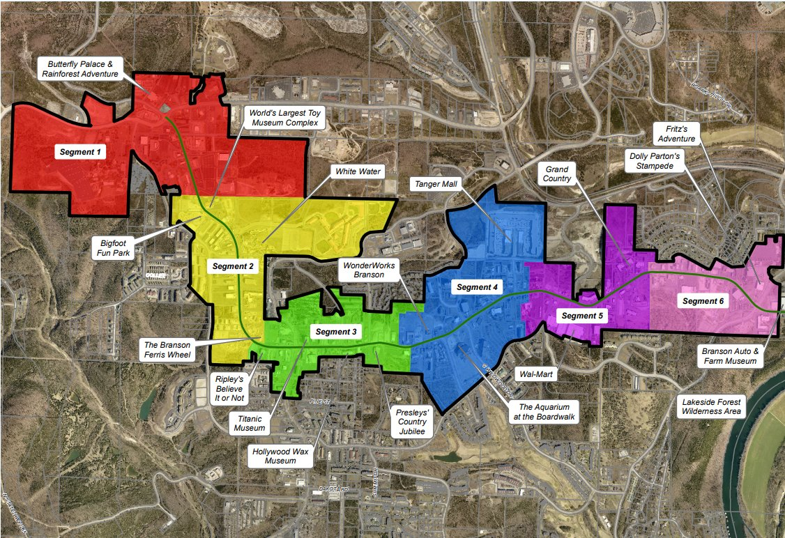 The CID is adding five new segments with Branson aldermen approval.