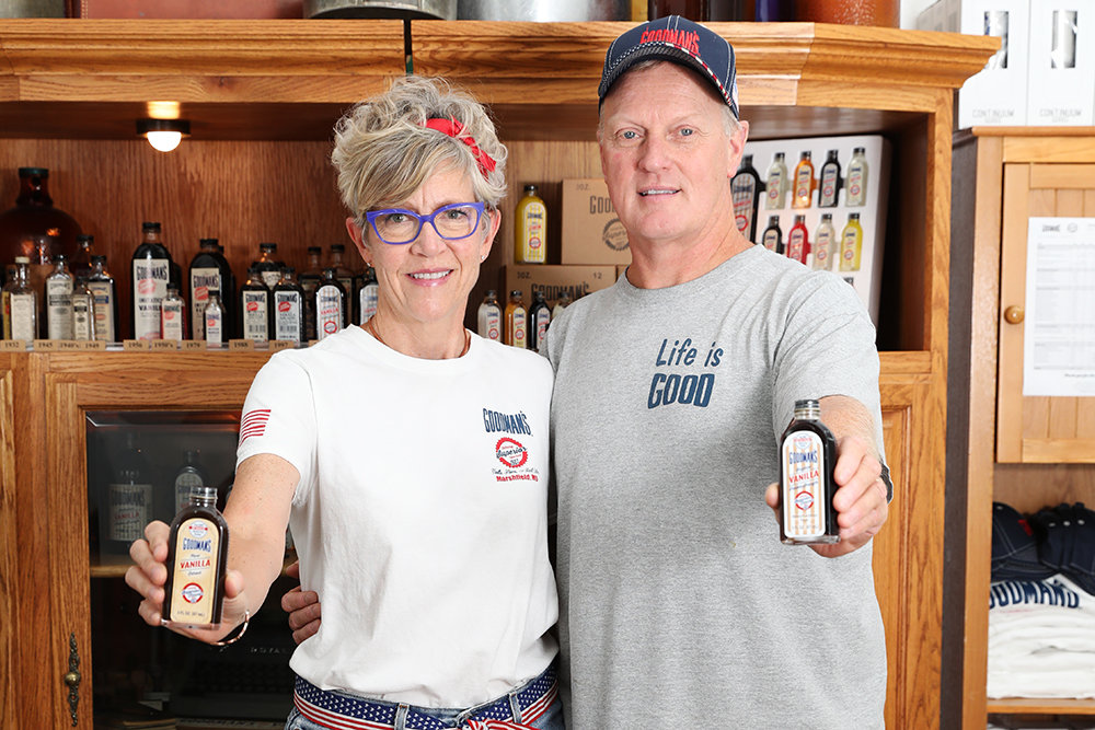 GOOD FOR GOODMAN'S: Goodman Manufacturing Co. owners Mike and Michelle Kimrey plan to reach new states for their company's growing roster of products before year's end.
