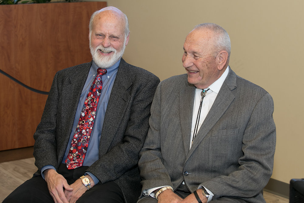 Dr. James Rogers, left, is the first recipient of the Harold K. Bengsch Award in 2017